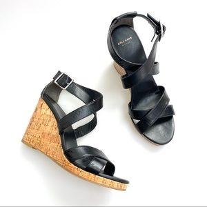 Cole Haan Jillian Grand OS Cork Wedge Sandals